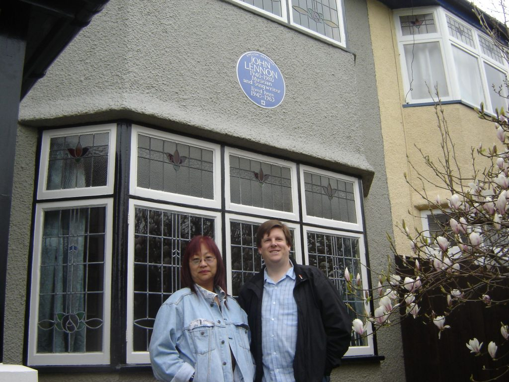 May Pang and David Bedford outside Mendips