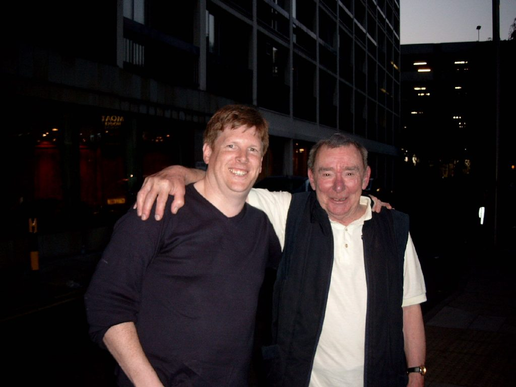 David with Alistair Taylor