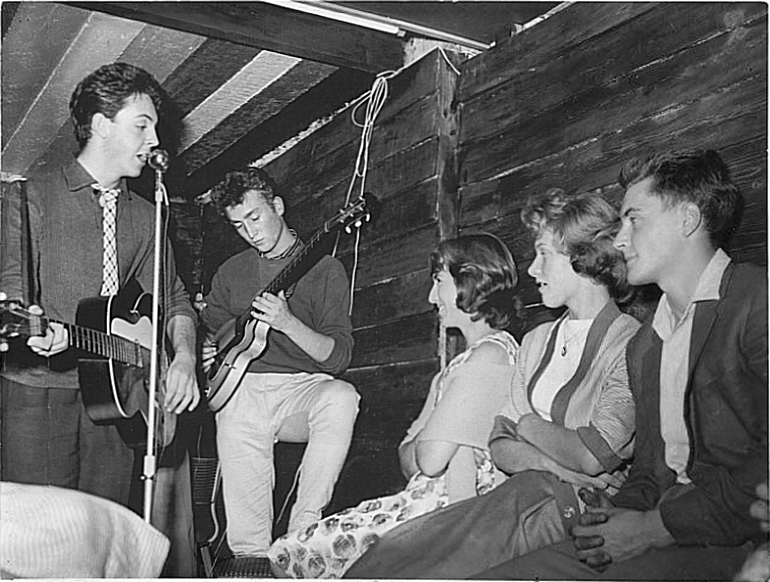 The Quarrymen at the Casbah Coffee Club in 1959